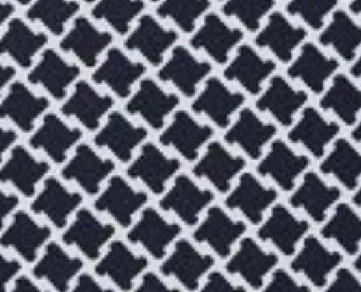 Alb cu picatele bleumarin