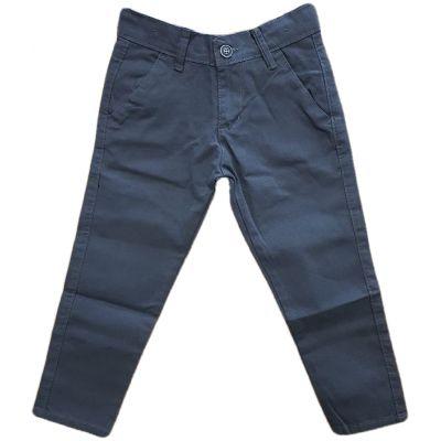 Pantaloni pentru baieti, model slim feat cu reglaj in talie, culoare gri fume