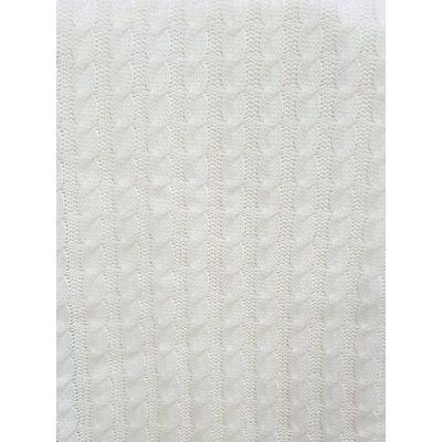 Paturica tricotata ivory, dimensiune 95x95cm, cu modele ondulate