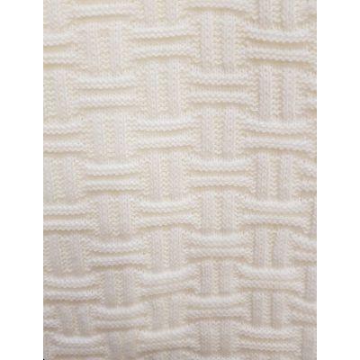 Paturica tricotata ivory, dimensiune 95x95cm