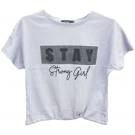 Tricou pentru fete, cu maneca scurta, de culoare lila