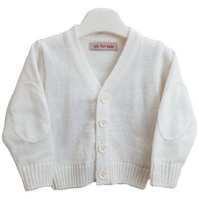 Jacheta tricotata pentru bebelusi de culoare ivory