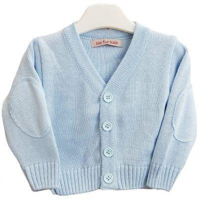 Jacheta tricotata pentru bebe baieti de culoare blue