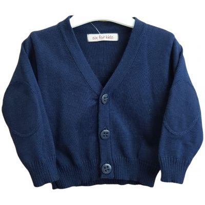 Jacheta tricotata pentru bebe baieti de culoare bluemarin