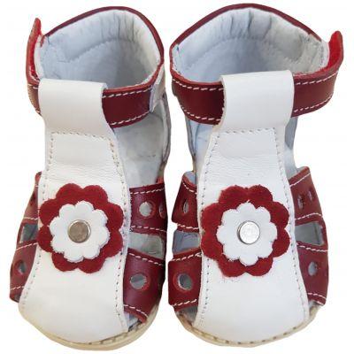 Sandale roșu cu alb