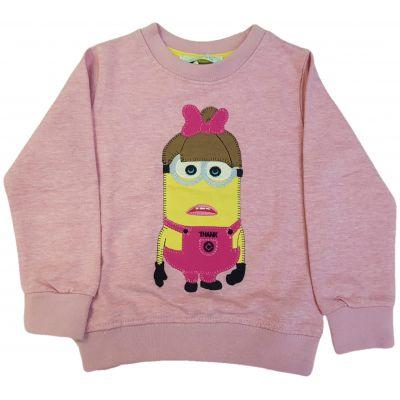 Tricou roz cu imprimeu Minions