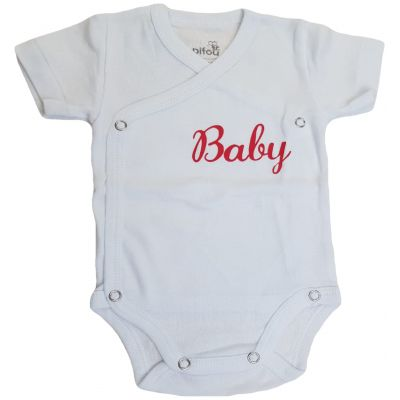 "Body alb cu mesaj ""Baby"""