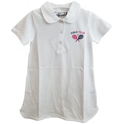 Rochie albă cu imprimeu tenis