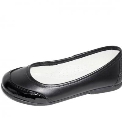 Pantofi pentru fete,  din piele naturala de culoare neagra