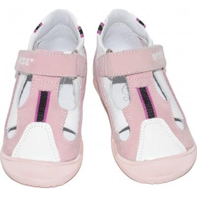 Sandale roz cu alb
