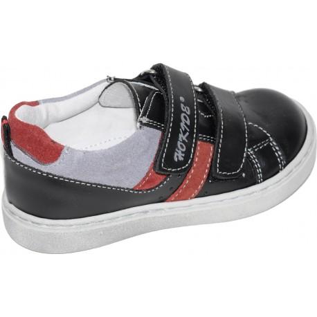 Pantofi baieti, model sport din piele naturala de culoare bleumarin
