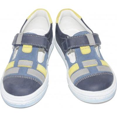 Pantofi sport  din piele naturala de culoare bleumarin